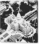 Texas Capitol Bw3 Acrylic Print by Scott Kelley