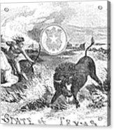 Texas Scene, 1855 Acrylic Print by Granger