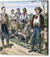 Texas Vigilantes, C1881 Acrylic Print by Granger