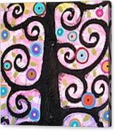 Textured Tree Acrylic Print by Karla Gerard