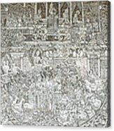 Thai Writing Patterns Acrylic Print by Kanoksak Detboon