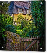 Thatched Roof Country Home Acrylic Print by Chris Lord
