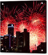 The 54th Annual Target Fireworks In Detroit Michigan - Version 2 Acrylic Print by Gordon Dean II