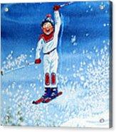 The Aerial Skier 15 Acrylic Print by Hanne Lore Koehler