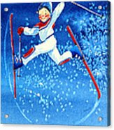 The Aerial Skier 16 Acrylic Print by Hanne Lore Koehler