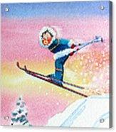 The Aerial Skier - 7 Acrylic Print by Hanne Lore Koehler