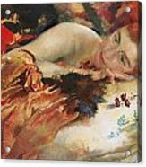 The Artist's Mistress Acrylic Print by Charles Sims