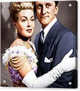 The Bad And The Beautiful, From Left Acrylic Print by Everett