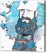 The Beard Acrylic Print by Michael  Pattison