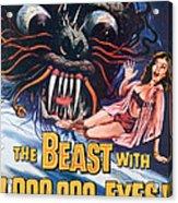 The Beast With A Million Eyes, 1955 Acrylic Print by Everett