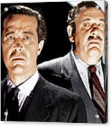 The Big Clock, From Left Ray Milland Acrylic Print by Everett