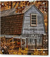 The Boathouse At The Manse Acrylic Print by Tricia Marchlik