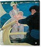 The Boating Party Acrylic Print by Mary Cassatt