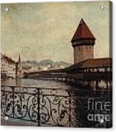 The Chapel Bridge In Lucerne Switzerland Acrylic Print by Susanne Van Hulst