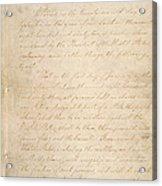 The Civil War. The Manuscript Acrylic Print by Everett