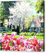 The Claude Monet Small House Acrylic Print by Tamyra Ayles