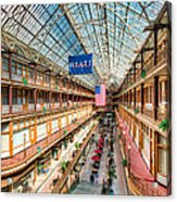 The Cleveland Arcade I Acrylic Print by Clarence Holmes