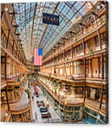 The Cleveland Arcade Iv Acrylic Print by Clarence Holmes
