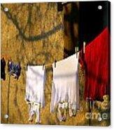 The Clothes Acrylic Print by Odon Czintos