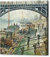 The Coal Workers Acrylic Print by Claude Monet
