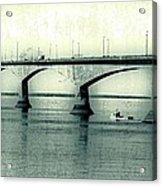 The Confederation Bridge Pei Acrylic Print by Edward Fielding