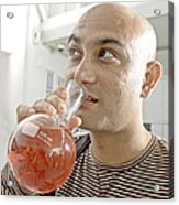 The Crazy Chemist Acrylic Print by Kantilal Patel