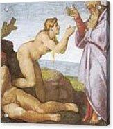 The Creation Of Eve Acrylic Print by Michelangelo Buonarroti