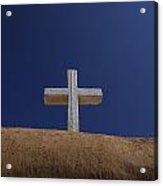 The Cross Above Saint Francis Catholic Acrylic Print by Raul Touzon