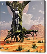 The Crucifixion Of A Messianic Martyr Acrylic Print by Mark Stevenson