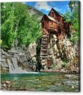 The Crystal Mill 1 Acrylic Print by Ken Smith