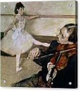 The Dance Lesson Acrylic Print by Edgar Degas