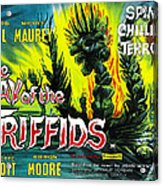 The Day Of The Triffids, British Poster Acrylic Print by Everett