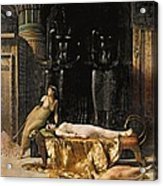 The Death Of Cleopatra  Acrylic Print by John Collier