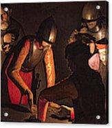 The Denial Of Saint Peter Acrylic Print by Georges De La Tour