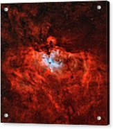 The Eagle Nebula In The Constellation Acrylic Print by Rolf Geissinger