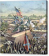 The Fall Of Petersburg To The Union Army 2nd April 1965 Acrylic Print by American School