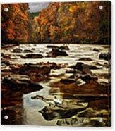 The Fall On The River Avon  Acrylic Print by John Farnan