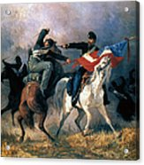 The Fight For The Standard Acrylic Print by Granger