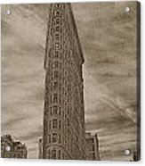 The Flat Iron Building Acrylic Print by Kathy Jennings