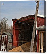 The Grain Barn Acrylic Print by Paul Ward
