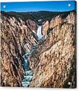 The Grand Canyon Of Yellowstone Acrylic Print by Brad Boserup