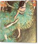 The Green Dancer Acrylic Print by Edgar Degas
