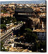 The Historic Centre Of Rome Acrylic Print by Fabrizio Troiani