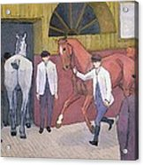 The Horse Mart  Acrylic Print by Robert Polhill Bevan