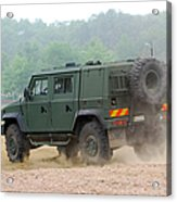 The Iveco Light Multirole Vehicle Acrylic Print by Luc De Jaeger