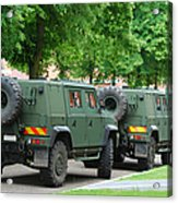 The Iveco Lmv Of The Belgian Army Acrylic Print by Luc De Jaeger