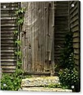 The Ivied Door Acrylic Print by Theresa Willingham