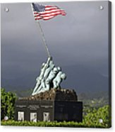 The Iwo Jima Statue Acrylic Print by Michael Wood