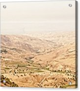 The Jordan Valley, Jordan Acrylic Print by Jim Foley
