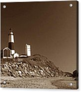 The Light At Montauk Point Acrylic Print by Skip Willits